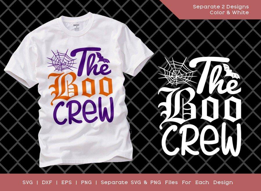 The Boo Crew SVG Cut File | Cute Halloween Svg | Cute Girl