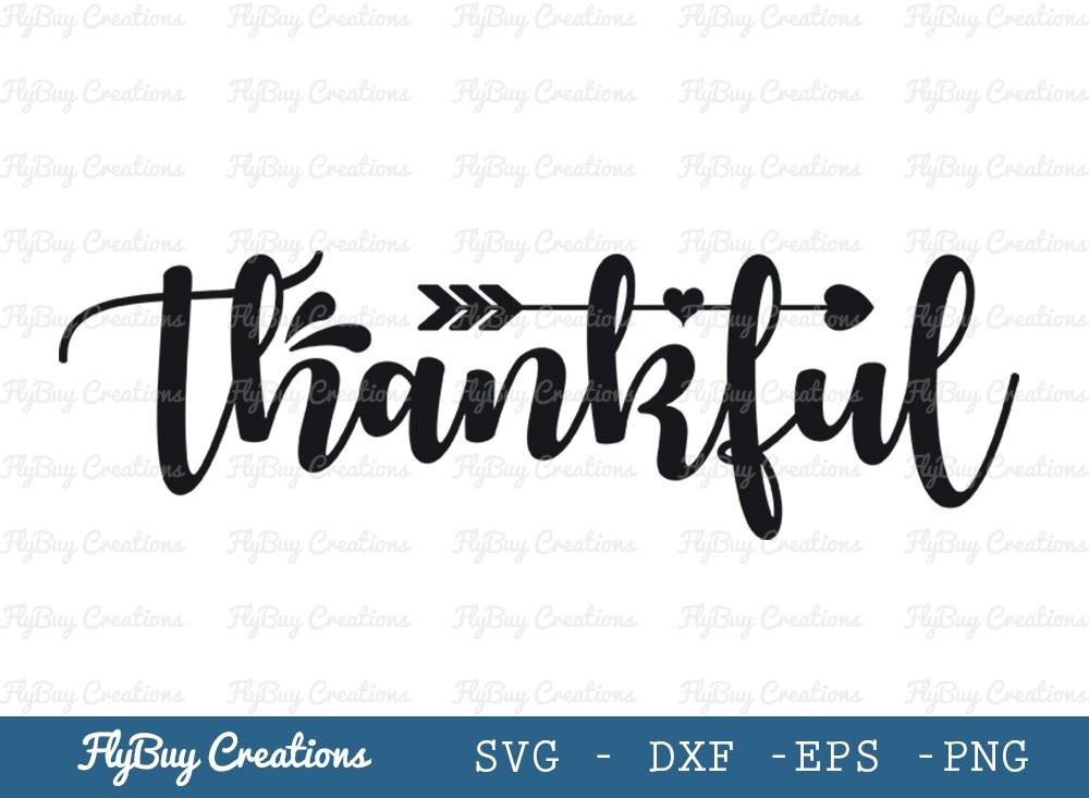 Thankful Svg Cut File | Thanksgiving Svg