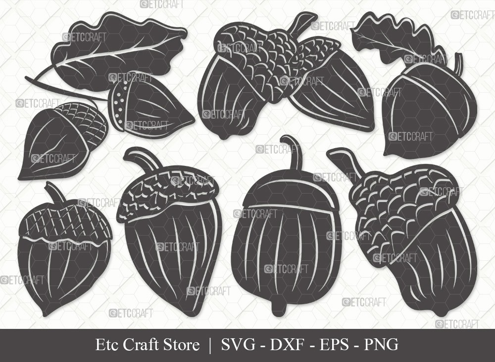 Acorn Silhouette SVG Cut File | Fall Svg