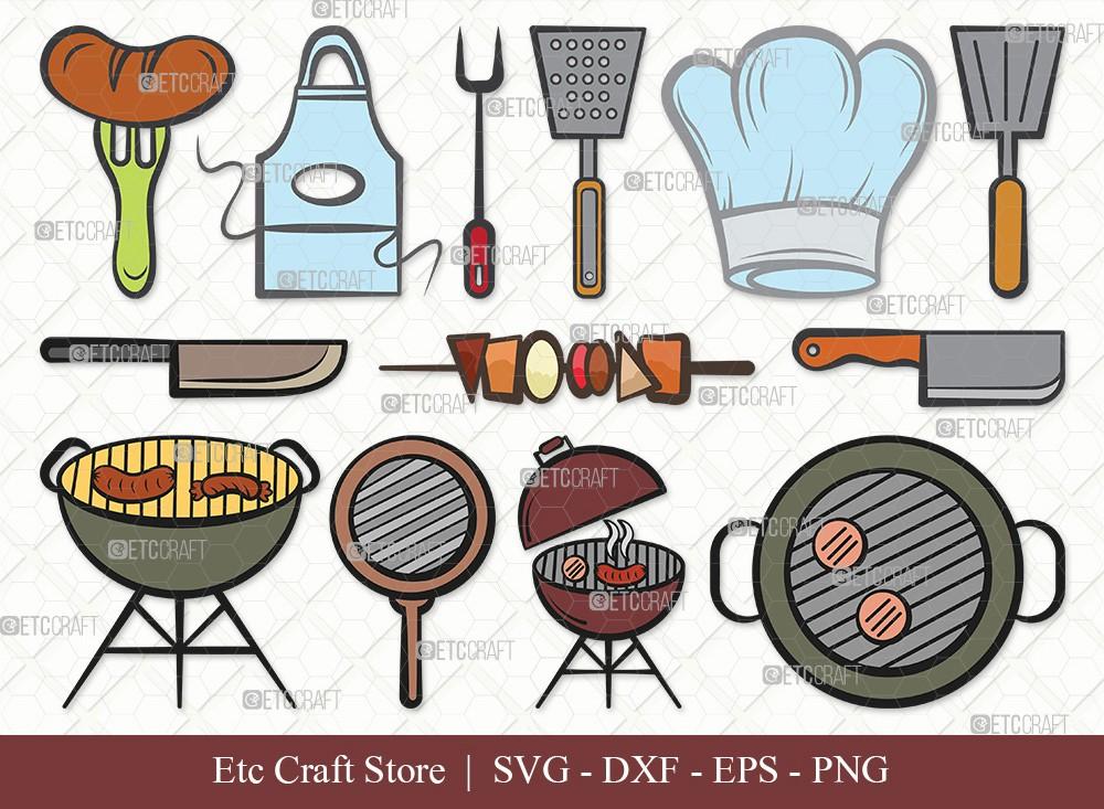 BBQ Clipart SVG Cut File   Barbecue Svg