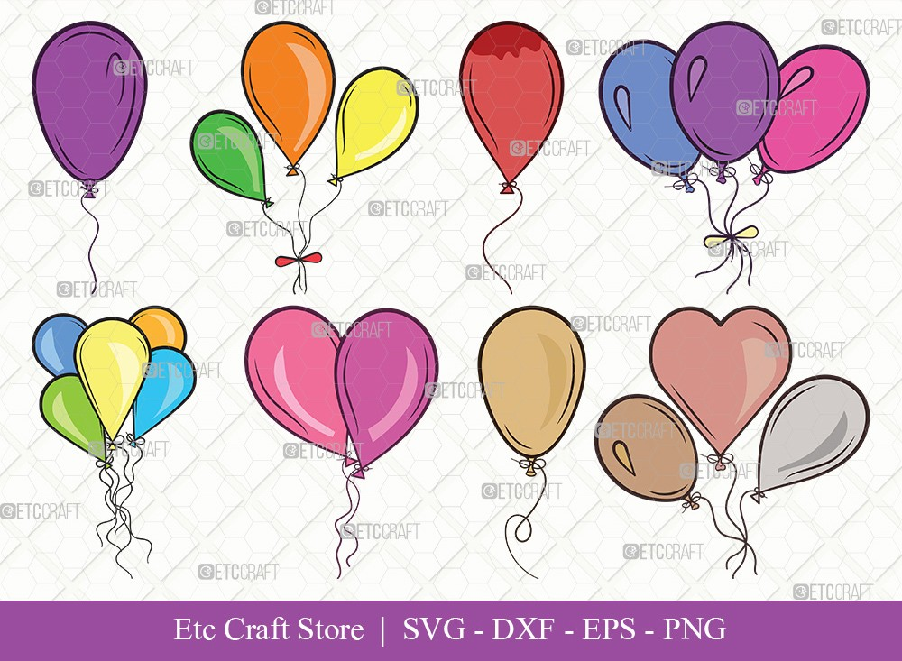 Balloon Clipart SVG Cut File | Balloon Svg