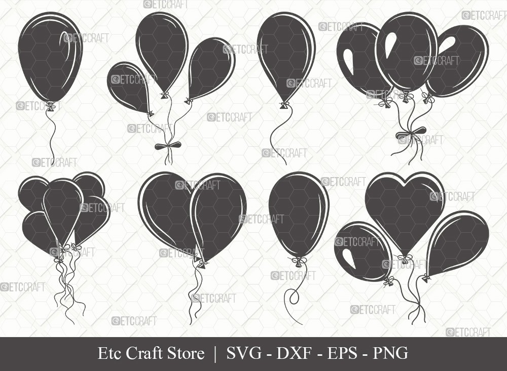 Balloon Silhouette SVG Cut File | Balloon Svg