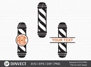 Barbers Pole Free SVG, Free Barber Silhouette, Free Hairdresser Clipart