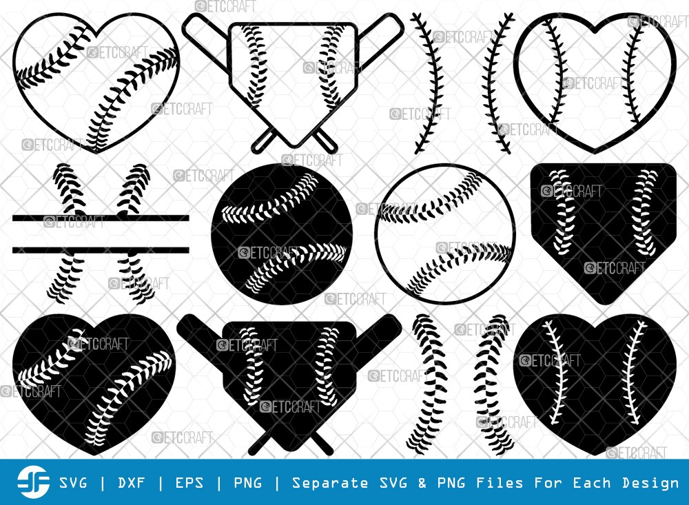 Baseball SVG Cut Files | Baseball Silhouette