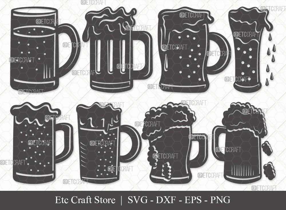 Beer Mug Silhouette SVG Cut File | Beer Svg
