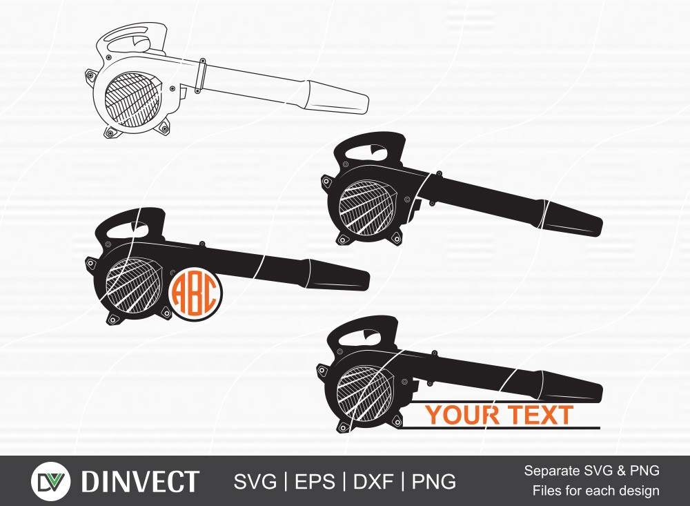 Blower SVG, Blower Split silhouette, Leaf Blowers Monogram