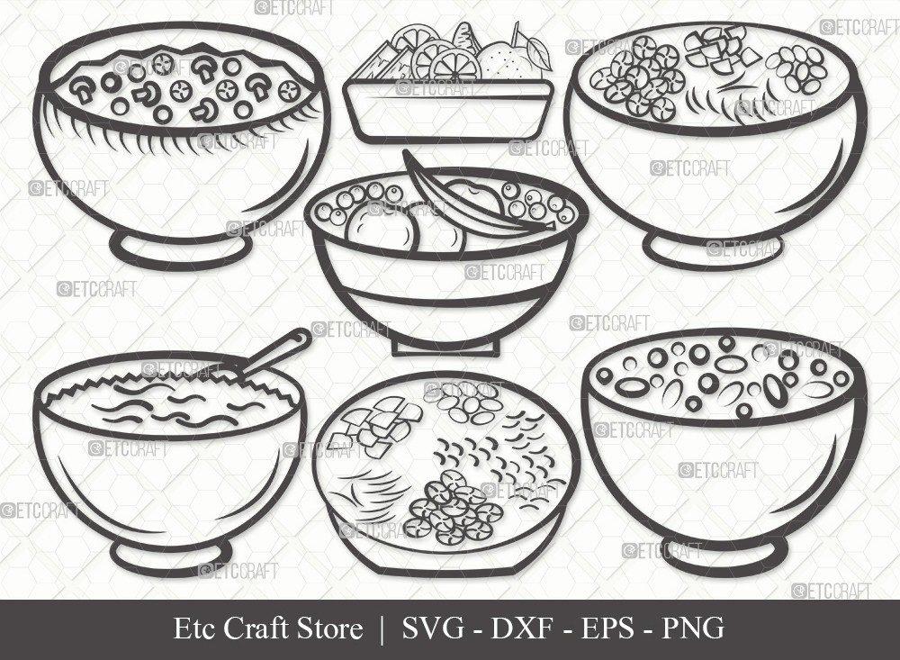Bowl Healthy Outline SVG Cut File