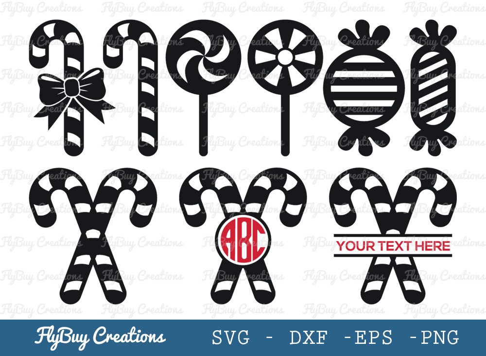 Holiday Candy SVG Cut File | Peppermint Candy Cane