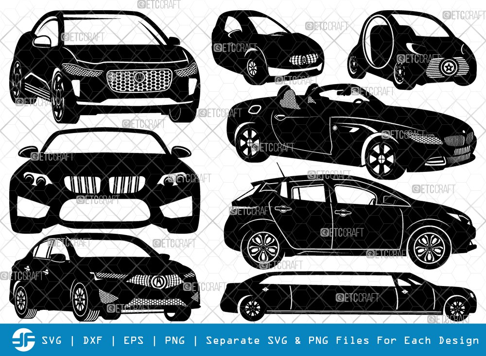 Car SVG Cut Files | Sports Car Silhouette