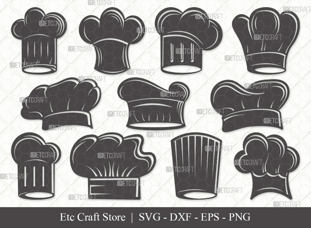 Chef Hat Silhouette SVG Cut File | Chef Svg