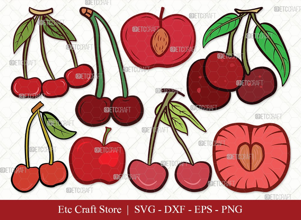 Cherry Clipart SVG Cut File | Cherries Svg