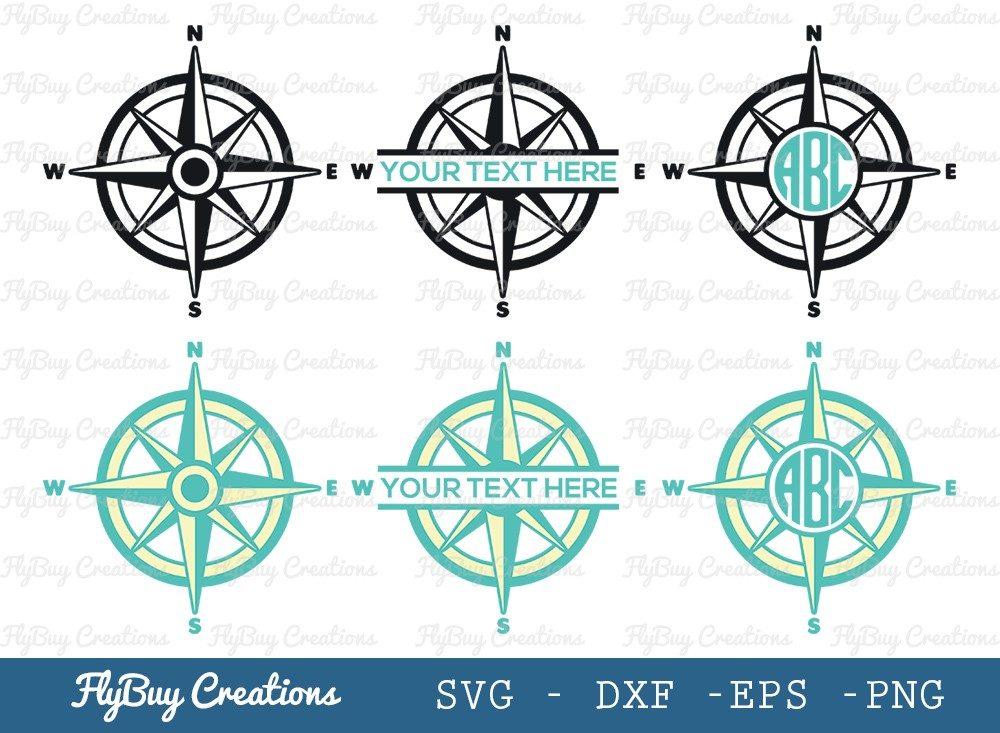 Compass SVG Cut File | Nautical Compass Svg