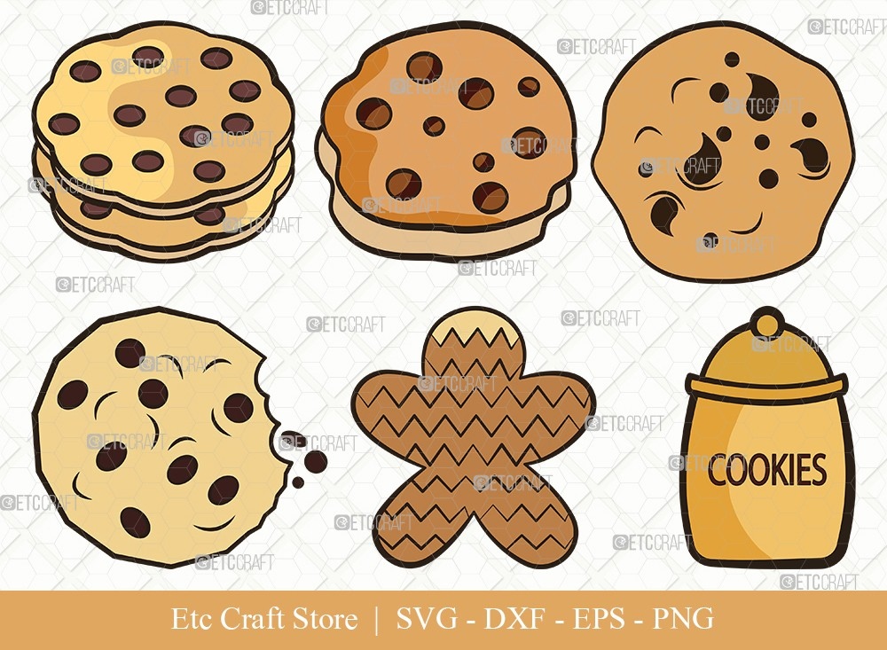 Cookie Clipart SVG Cut File | Pastry Svg