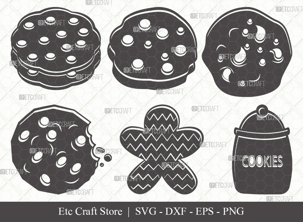 Cookie Silhouette SVG Cut File | Pastry Svg