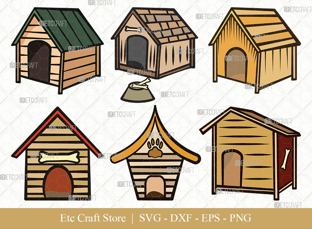 Dog House Clipart SVG Cut File | Dog Svg