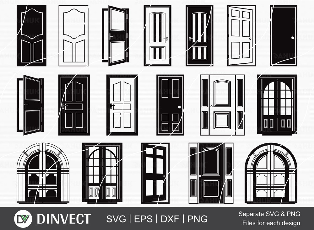 Door SVG Bundle, Door Silhouette