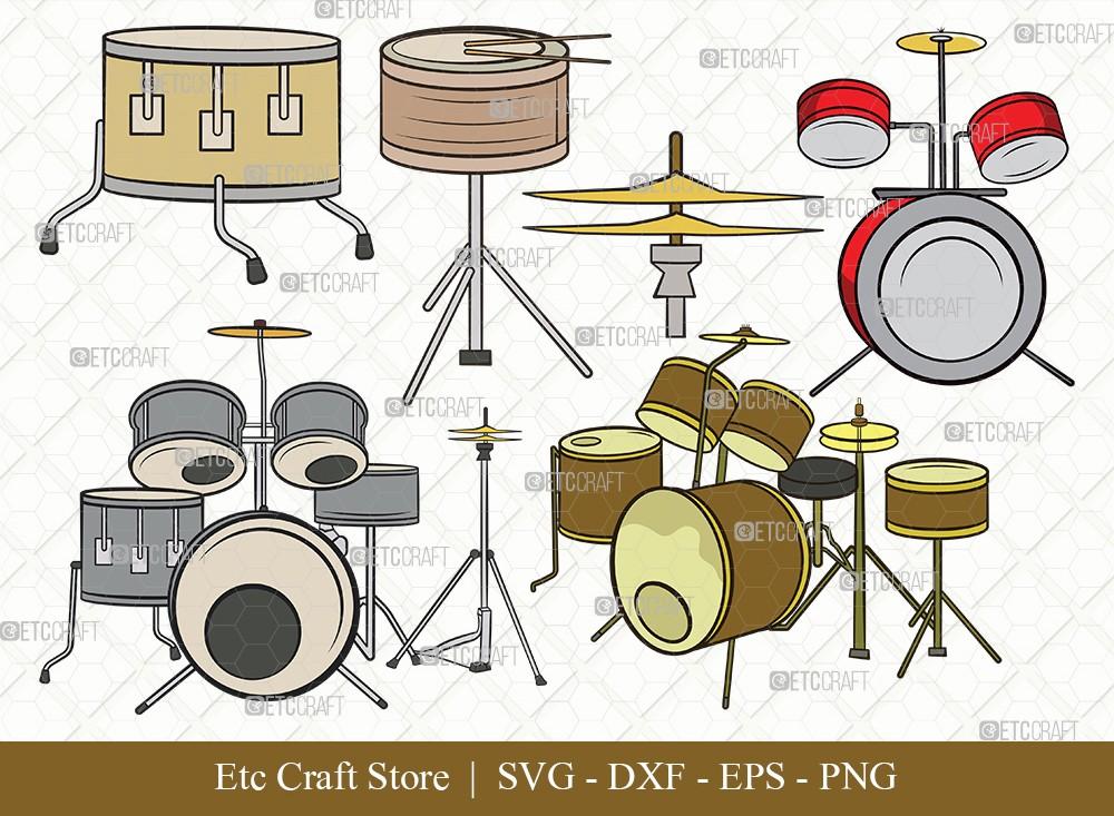Drum Set Clipart SVG Cut File | Music Svg