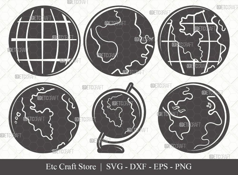 Earth Silhouette SVG Cut File | Planet Svg