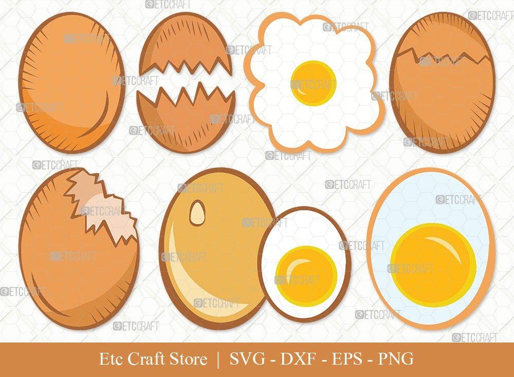 Egg Clipart SVG Cut File | Cracked Egg Svg