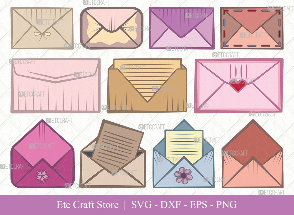 Envelope Clipart SVG Cut File | Mail Svg