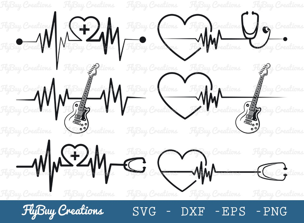 Heartbeat SVG Cut File | Hospital Svg