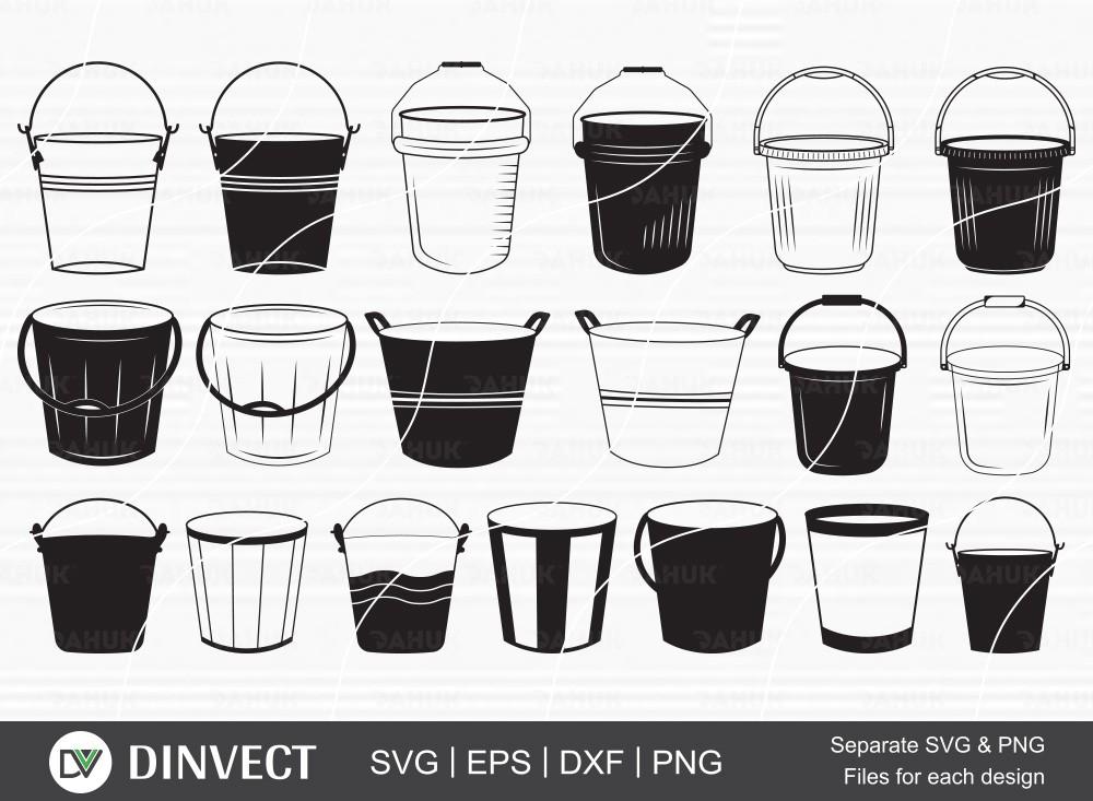 Bucket svg, Bucket vector, Bucket icon, Bucket cut file, cut file, for silhouette, svg