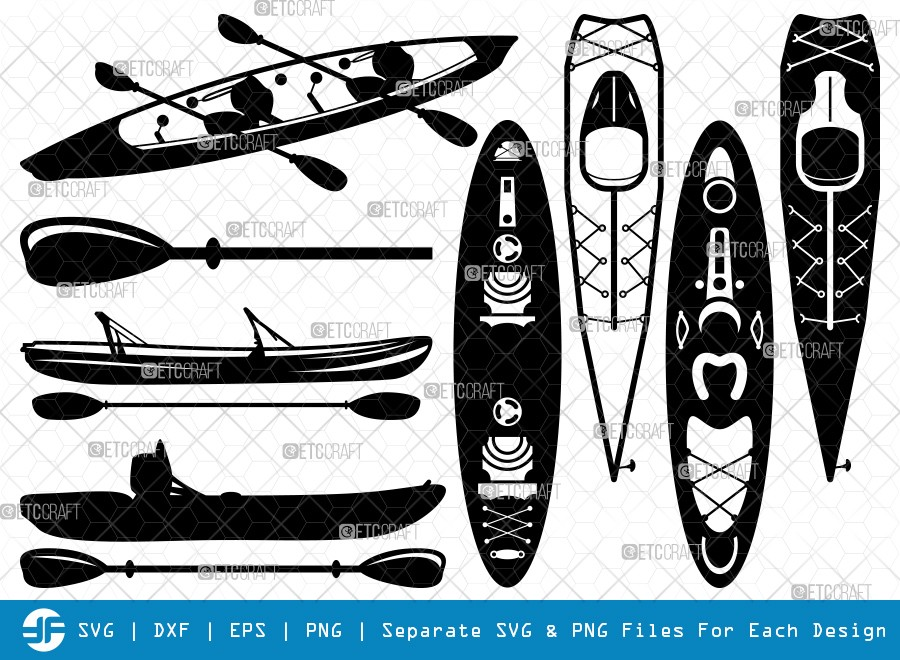 Kayak SVG Cut Files | Kayak Silhouette