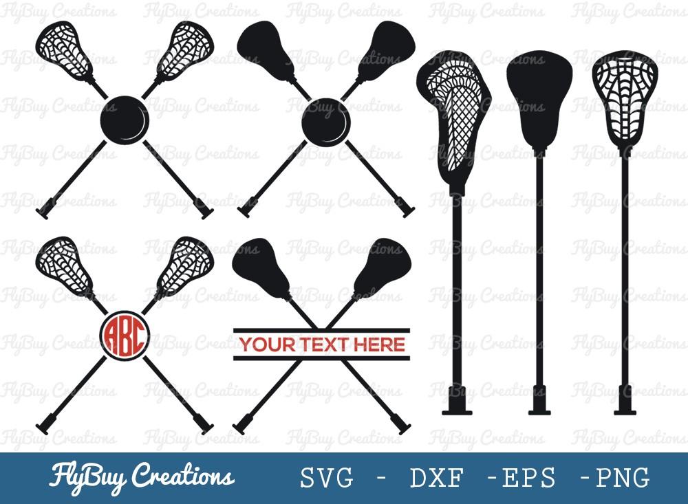 Lacrosse Stick SVG Cut File | Sports Svg