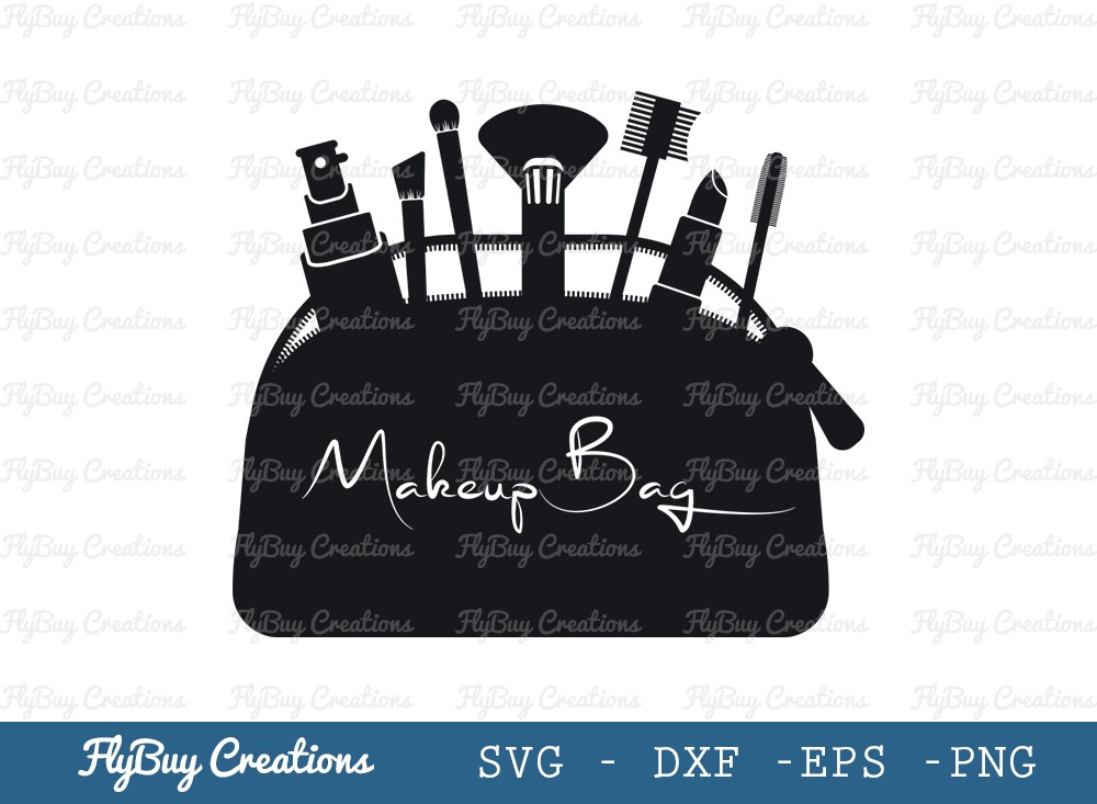 Makeup Bag SVG Cut File | Fashion Bag Logo