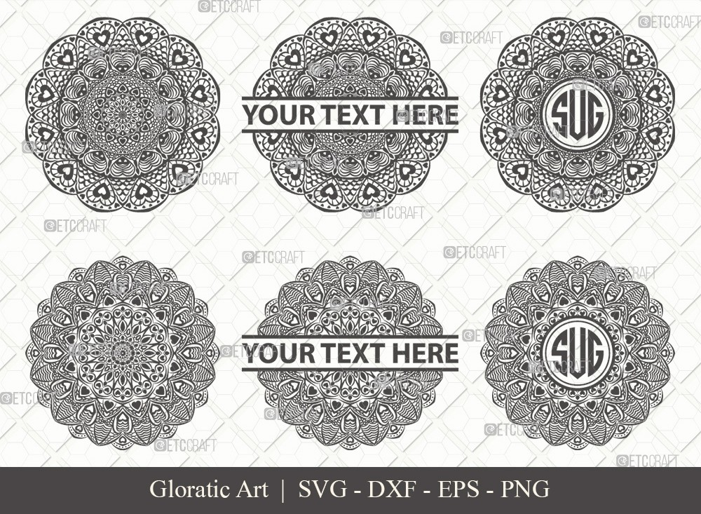 Mandala SVG Cut File | Monogram | M0012