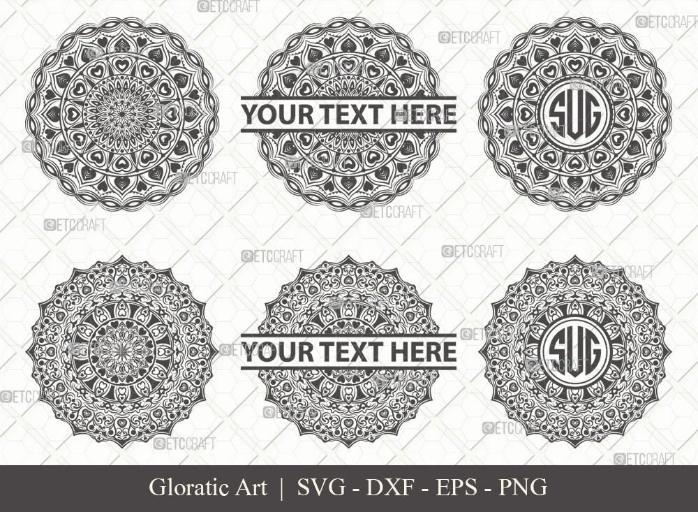 Mandala SVG Cut File | Monogram | M0014