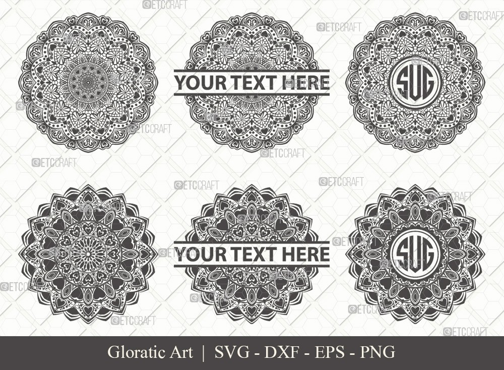 Mandala SVG Cut File | Monogram | M00019