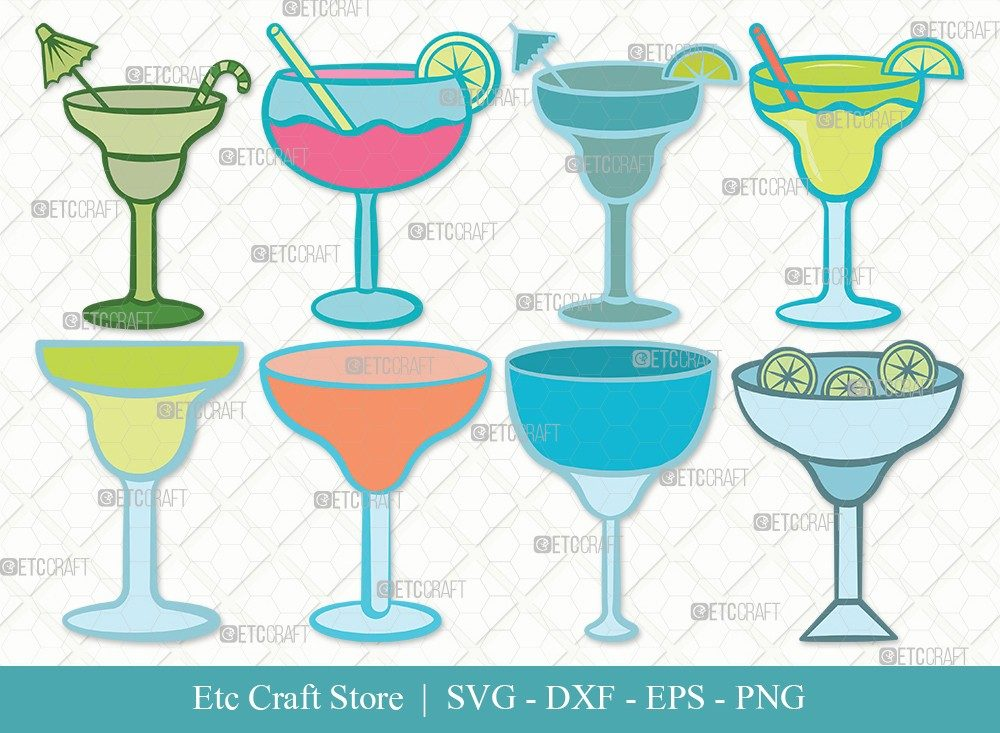 Margarita Glass Clipart SVG Cut File