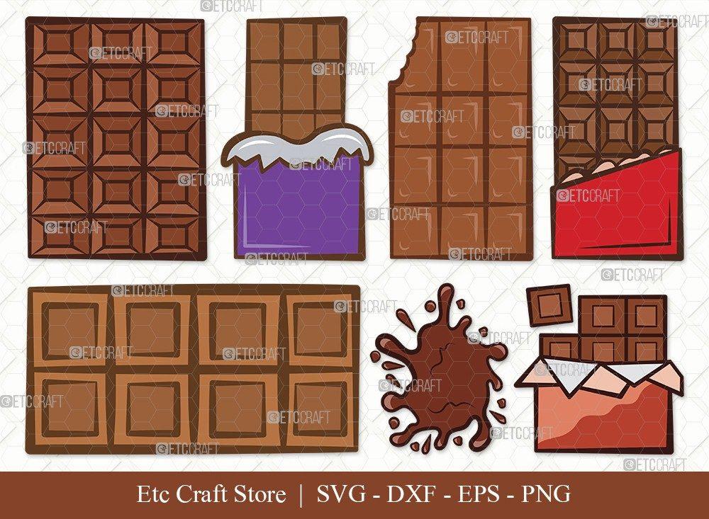Milk Chocolate Clipart SVG Cut File