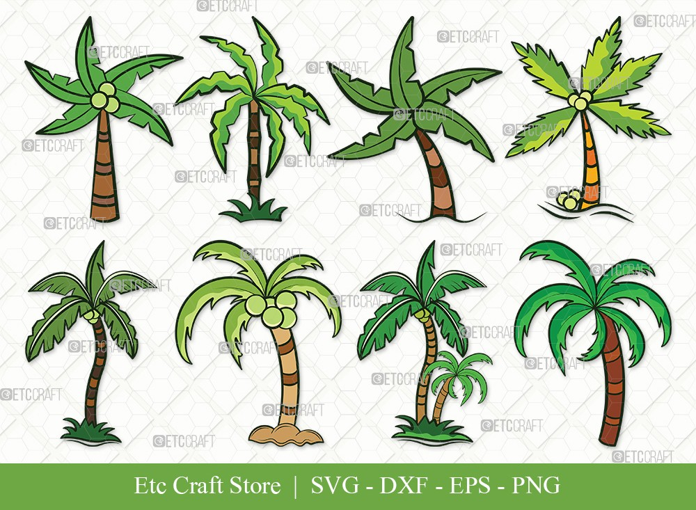 Palm Tree Clipart SVG Cut File | Palm Svg