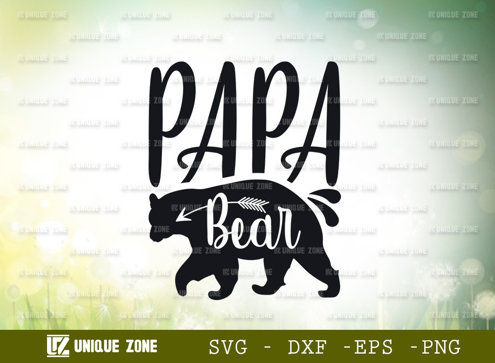 Papa Bear SVG Cut File | Animal Svg