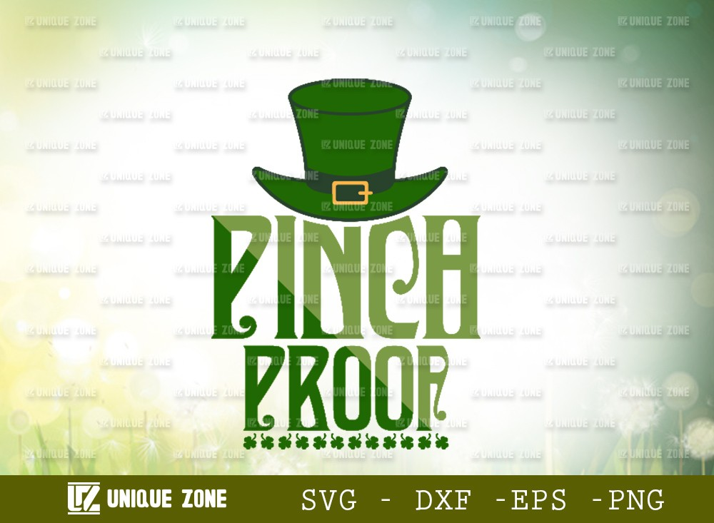 Pinch Proof SVG Cut File | Shamrock Svg