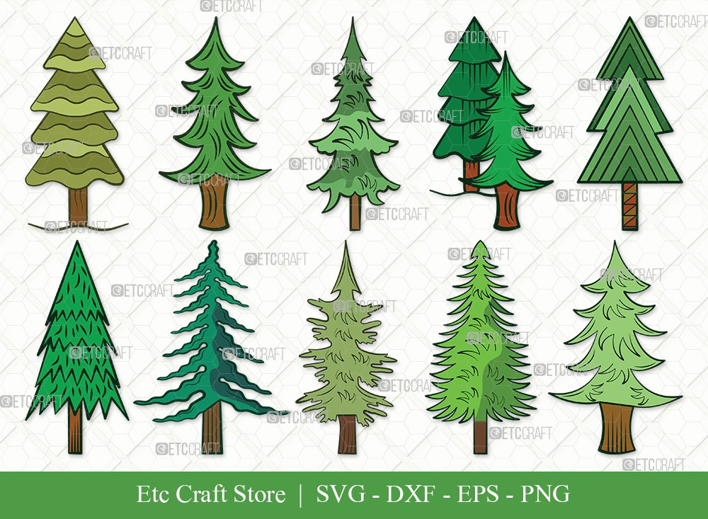Pine Tree Clipart SVG Cut File | Pine Svg