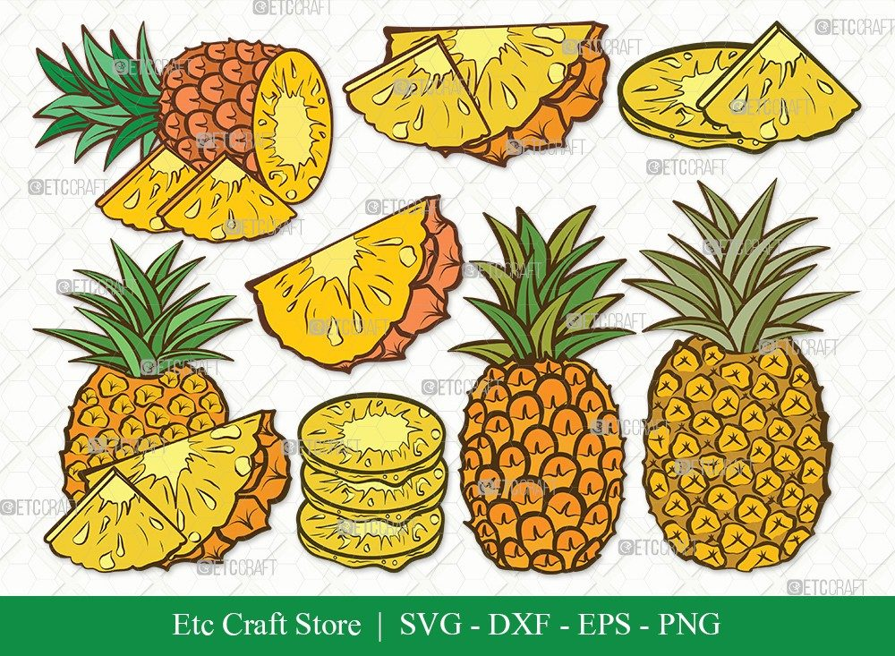 Pineapple Clipart SVG Cut File | Summer Svg