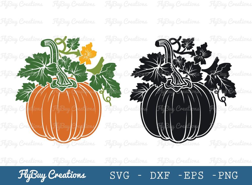 Pumpkin With Leaf SVG Cut File | Autumn Fall