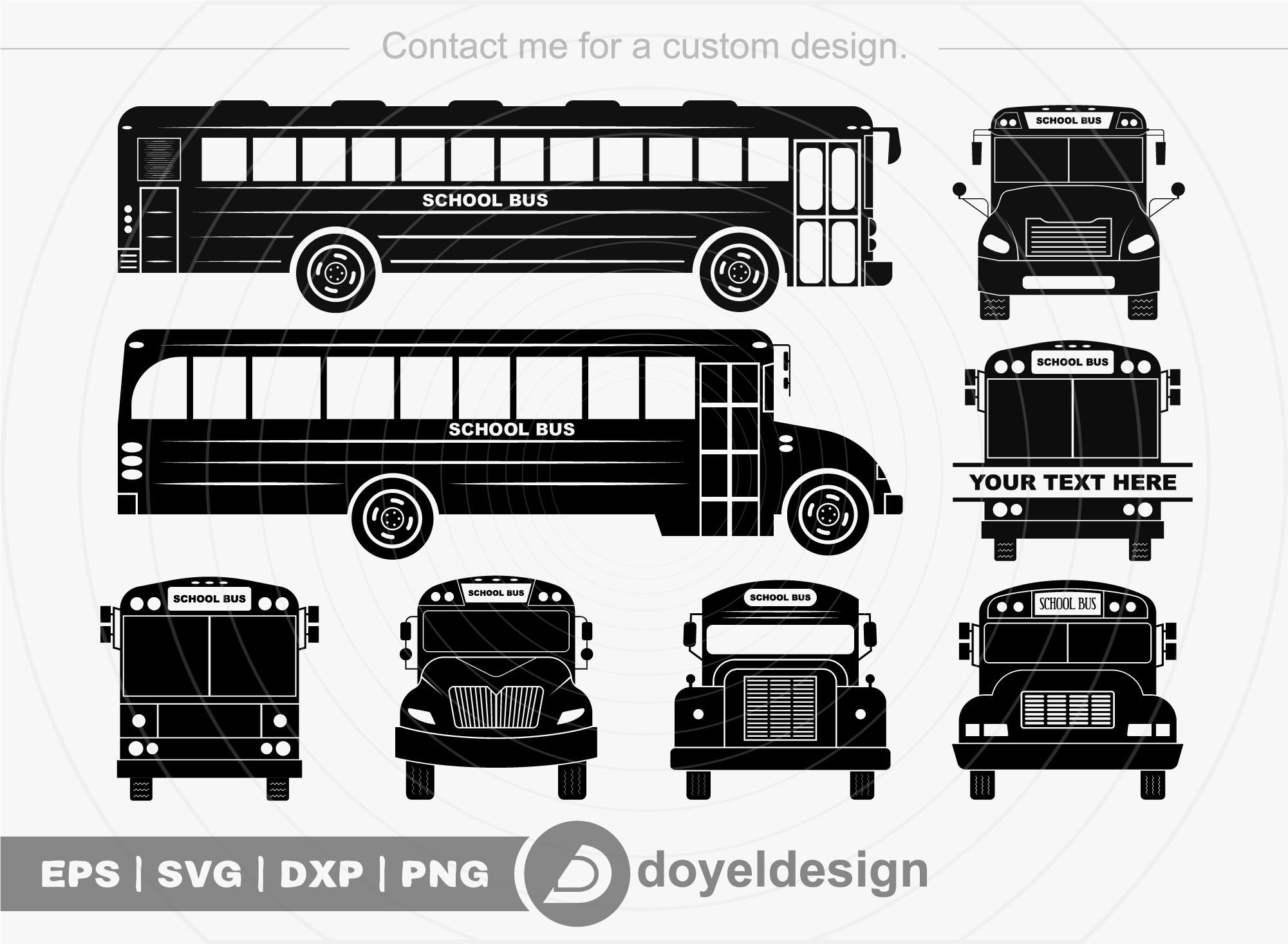 School Bus SVG Cut File School Bus Clipart