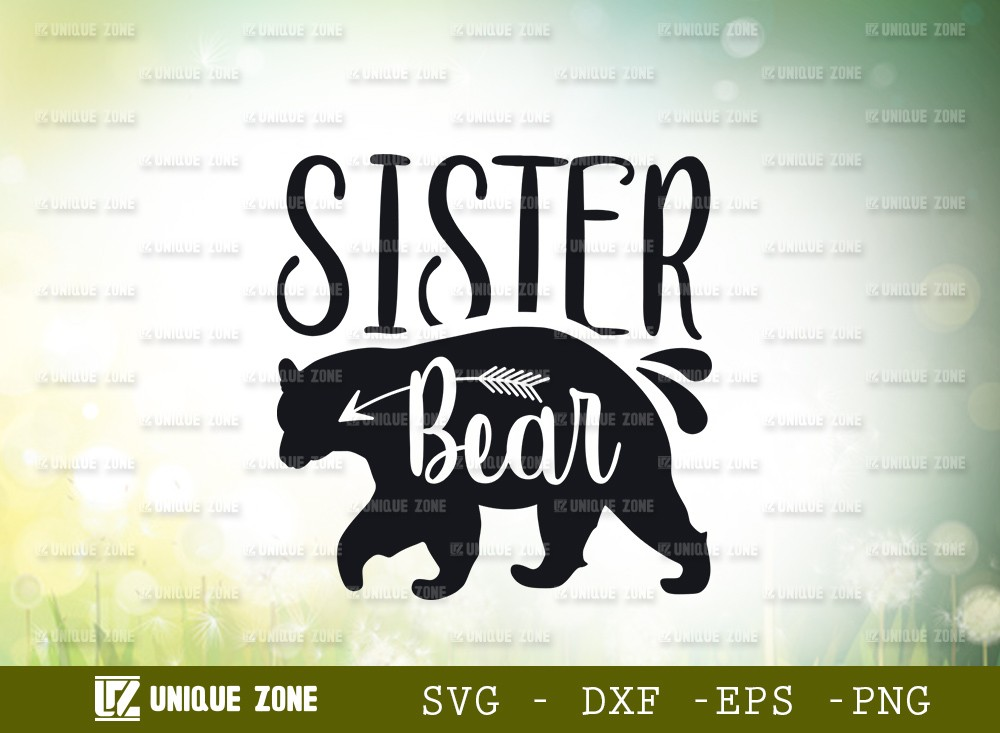Sister Bear SVG Cut File | Animal Svg
