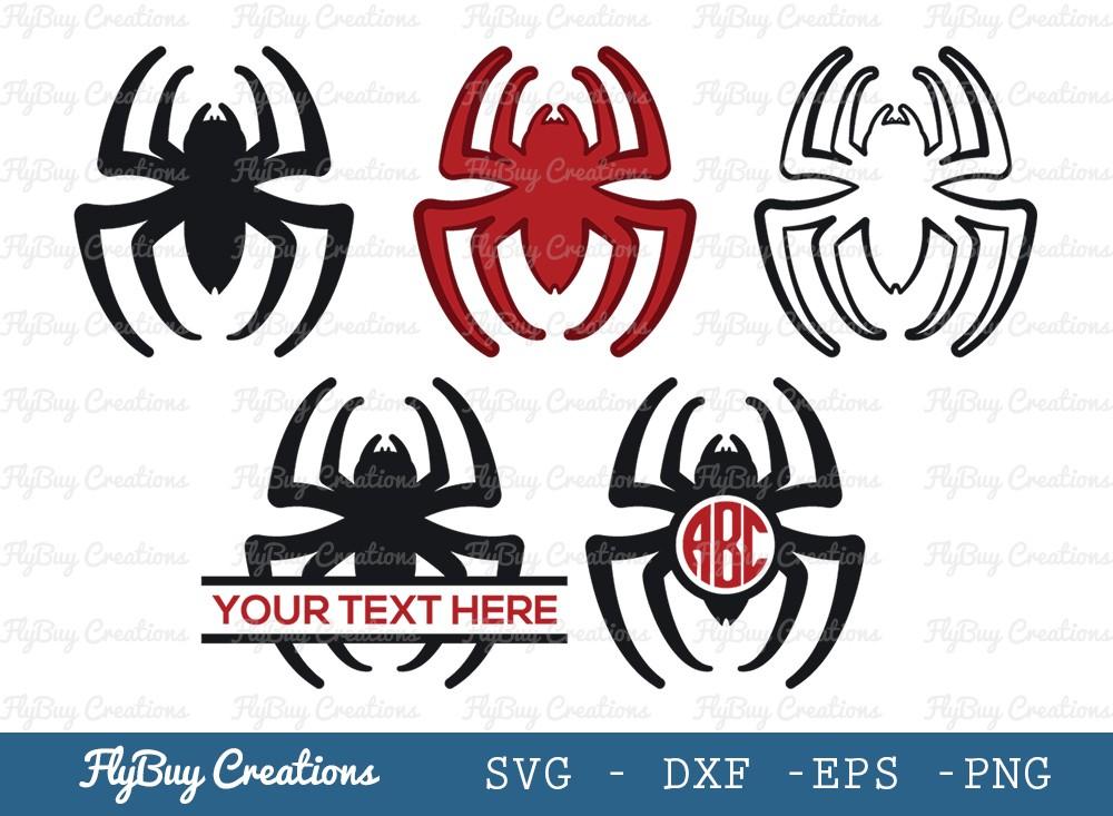 Spider SVG Cut File | Spider Monogram Svg