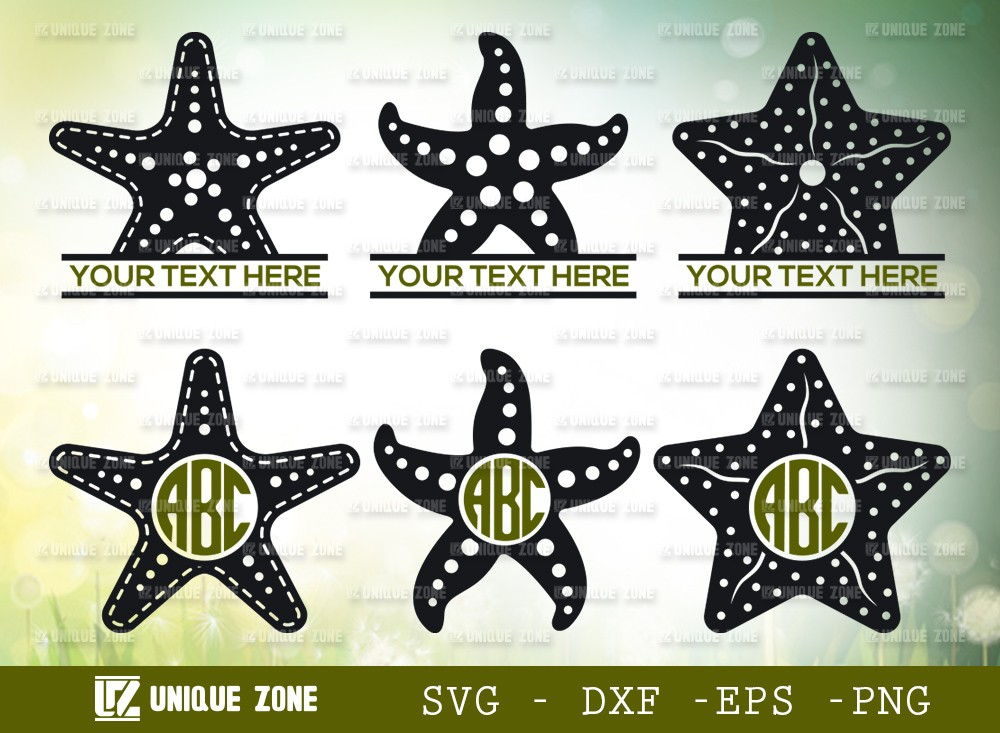 Starfish Monogram SVG Cut File | Starfish