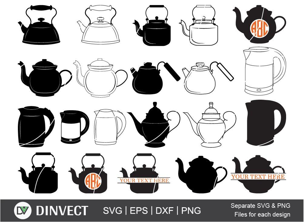 Tea kettle SVG, Teapot svg, Boiler svg