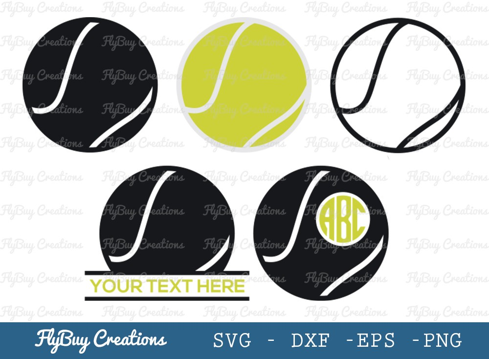 Tennis Ball SVG Cut File | Sports Ball Svg