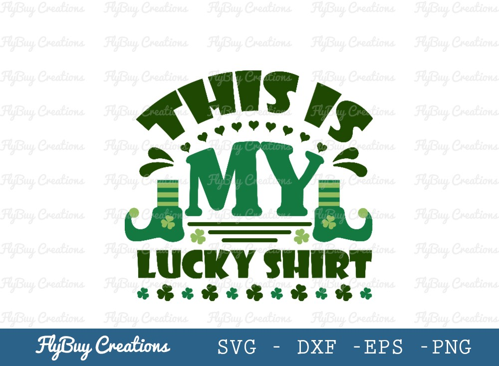 This Is My Lucky Shirt SVG | Shamrock Svg
