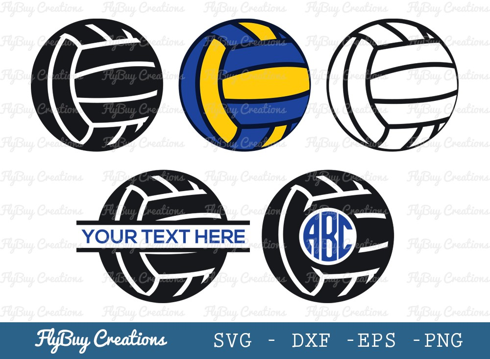 Volley Ball SVG Cut File | Sports Ball Svg
