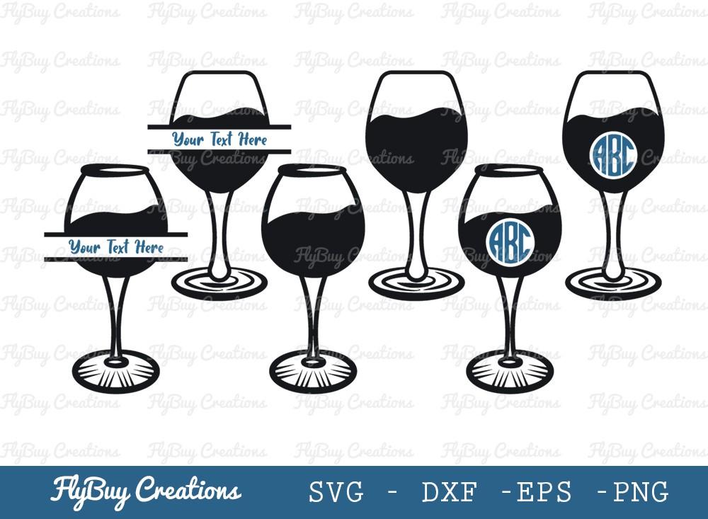 Wine Glass SVG Cut File | Alcohol Glass Svg