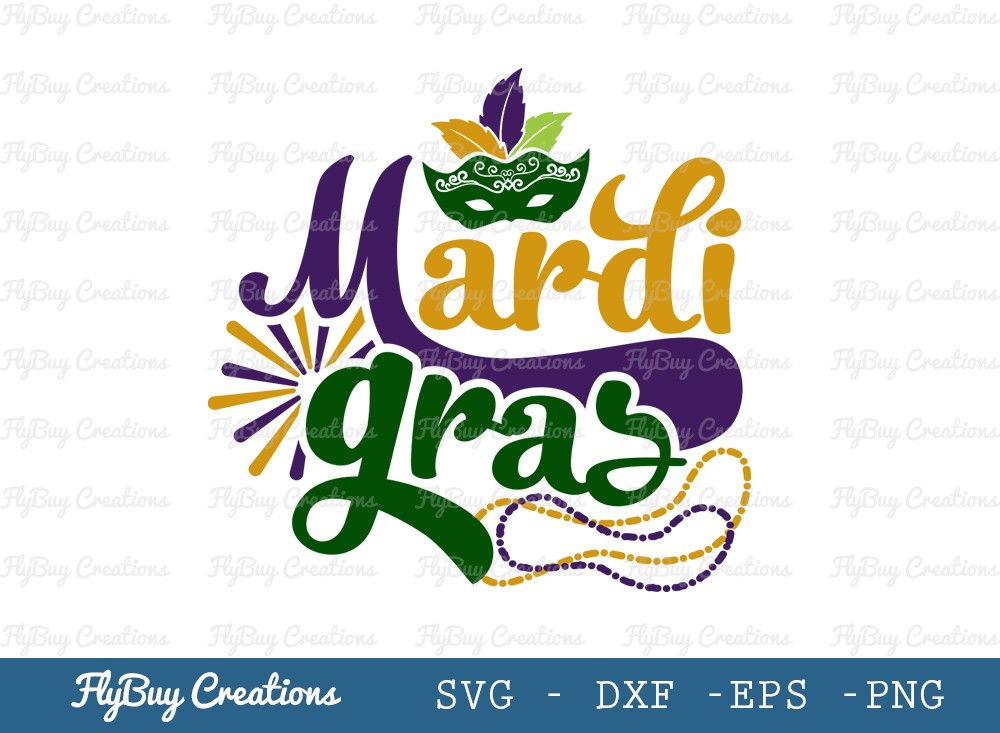 Happy Mardi Gras SVG Cut File | Mardi Gras Svg